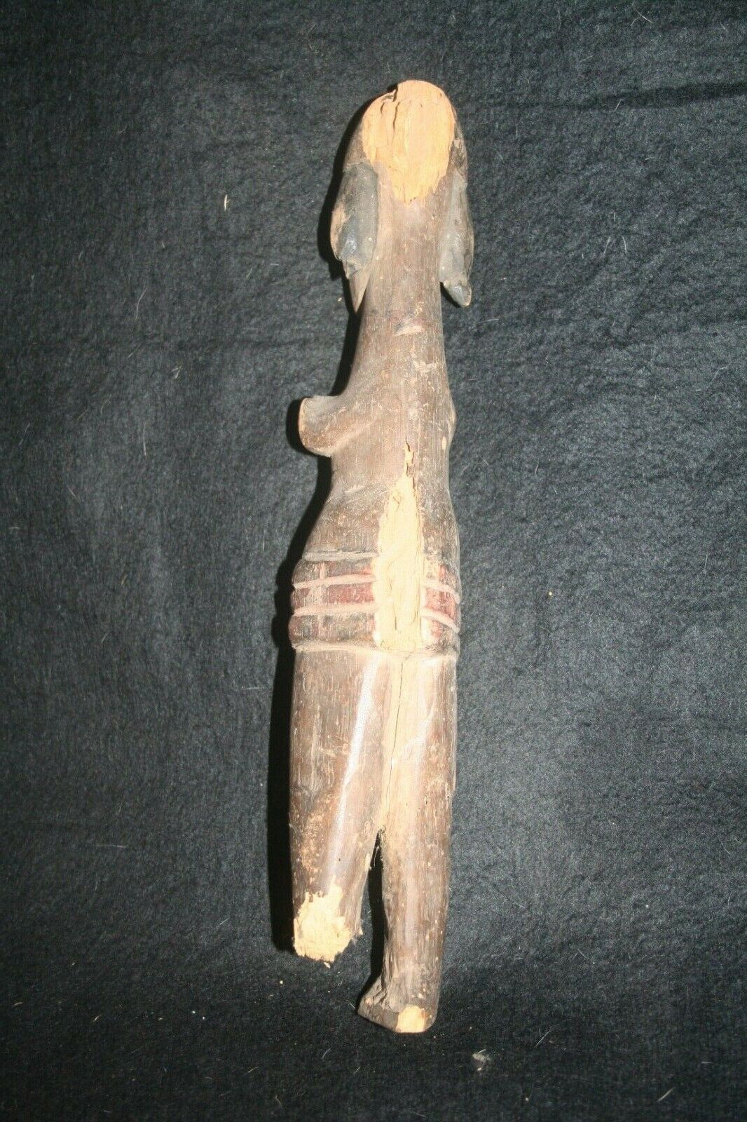 Old Wooden Human Figure From Ibibo Tribe Nigeria. - $45.00