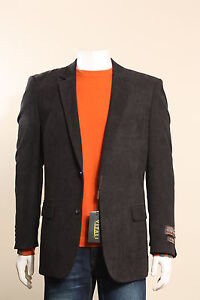 New-Mens-2-Button-Black-Sport-Coat-Sport-Jacket-Blazer-Jacket-with-Side-Vents