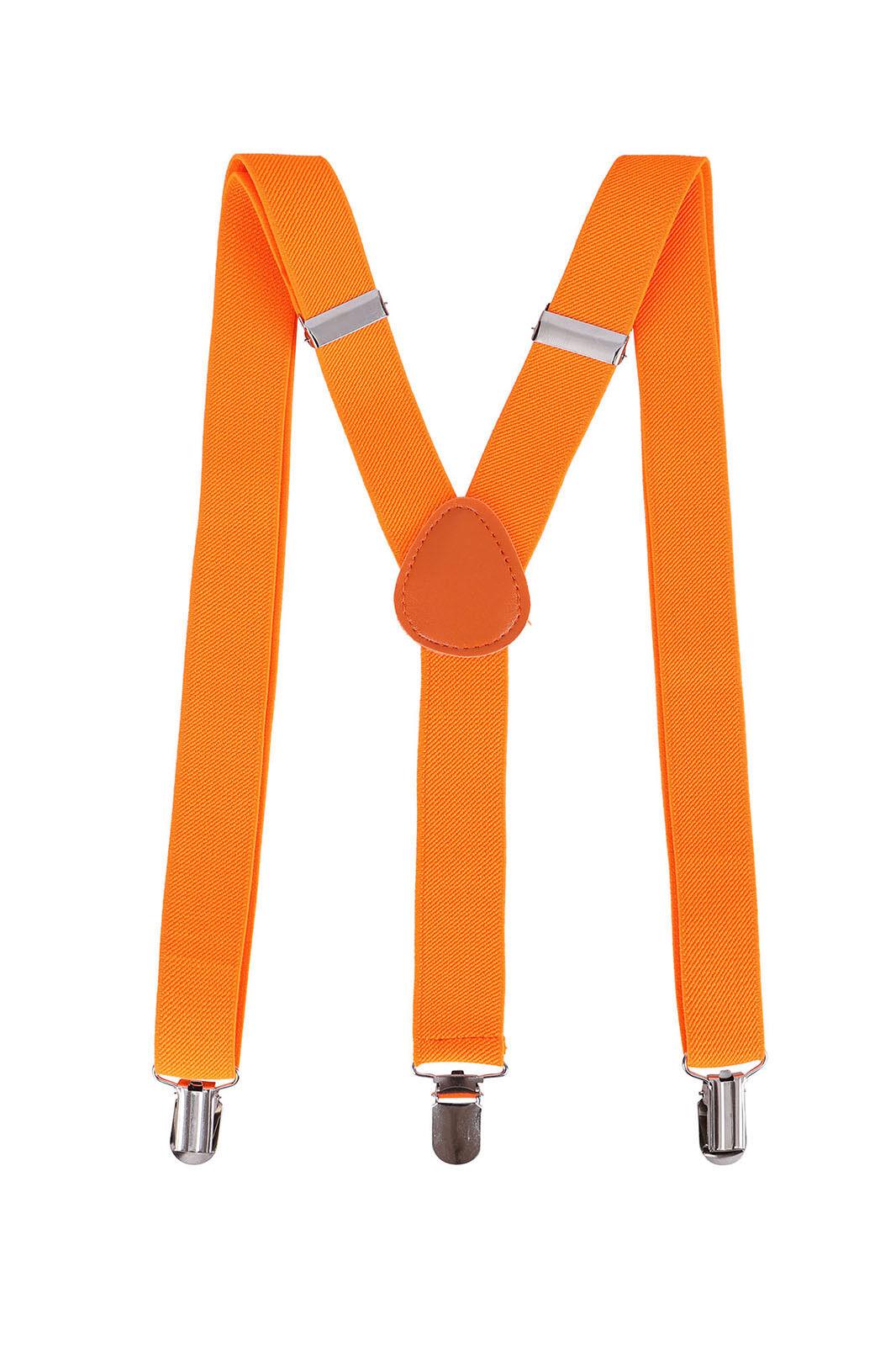 Unisex Men Women Clip-On Adjustable Elastic Suspenders - Ass