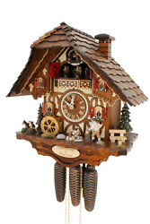 cuckoo clock original black forest 8 day  german  music wood chopper new Hettich