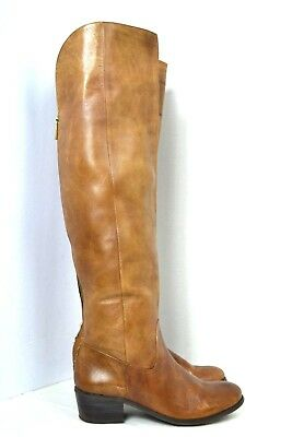 INTERNATIONAL CONCEPTS BROWN GENUINE LEATHER OVER KNEE HIGH BOOTS SIZE 6.5 M