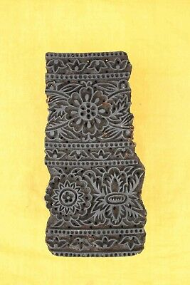 Wooden Printing Blocks Hand Carved Indian Wood Textile Block Wood Stamp Fine