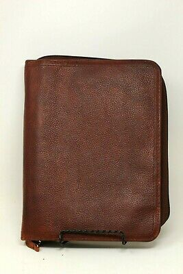 Franklin Covey Classic Leather Binder Brown Pebbled Leather