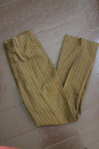 VINTAGE Brown FARAH NO IRON SLACKS DRESS PANTS Straight Leg MEASURE 34