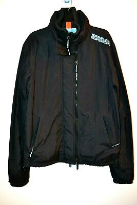 Superdry Japan Windcheater Mens Black Dual Layer Jacket sz L