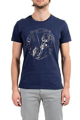 Versace Jeans Men's Blue Graphic Short Sleeve T-Shirt sz S M L XL 2XL