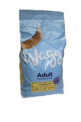 Dog food  Wagg Complete Dog Food with Chicken and Vegetables, 2.5kg