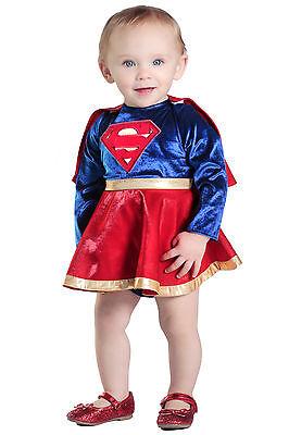 SuperGirl™ Costume DC Comics Super Hero Girls Baby 3 6 9 12 18 24 months 2T 2 - Baby Supergirl Costume