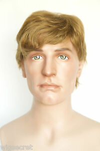 light gold brown with strawberry medium human hair