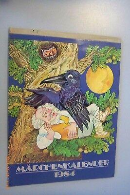 Märchenkalender 1984 Volksmärchen / mit Geschichten DDR GDR Bebildert (Märchen Kalender)
