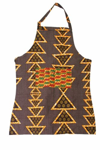 Fair Trade African Handcrafted  Apron - Orange Triangles