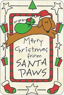 Crunchkins EDIBLE Christmas Card for DOGS - MERRY CHRISTMAS FROM SANTA (Edible Card)