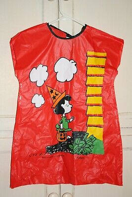 Vintage 1966 Collegeville Peanuts Lucy Halloween Costume Child size S, Rare, NOS
