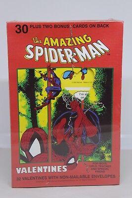 1992 Vtg 32 Amazing Spider Man Valentine Cards Box School Student New NOS Marvel