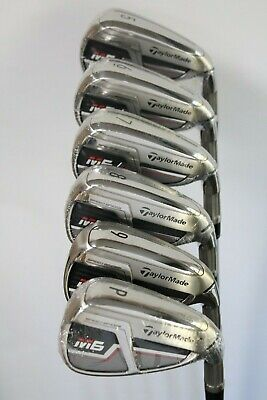 TAYLORMADE M6 IRONS 5-PW REGULAR FLEX STEEL