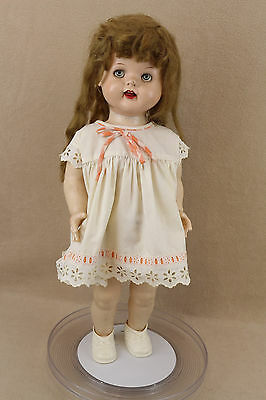 "22"" vintage Flirty Eyed hard plastic Ideal Saucy Walker Doll TLC"