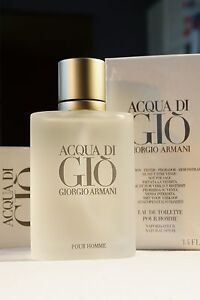 ACQUA DI GIO GIORGIO ARMANI 3.4oz TESTER SPRAY EAU DE TOILETTE Aqua Cologne Men