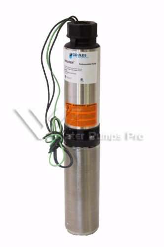 """10SB05422C Goulds 10GPM 1/2HP 4"""" Submersible Water Well Pump & Motor 2 Wire 230V"""