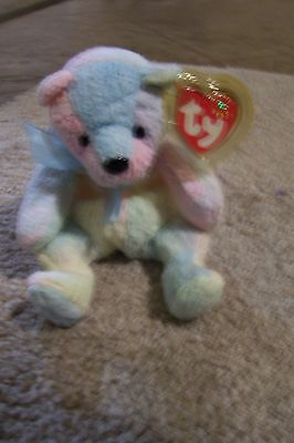 Mellow Bear - TY beanie baby Mellow. Bear. Tag protector on.