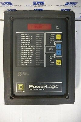 Square D Power Logic Circuit Monitor Only Cm2250 3020 Used