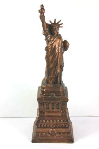 Old Cast Metal  Statue of Liberty Ellis Island Still Coin Money BANK
