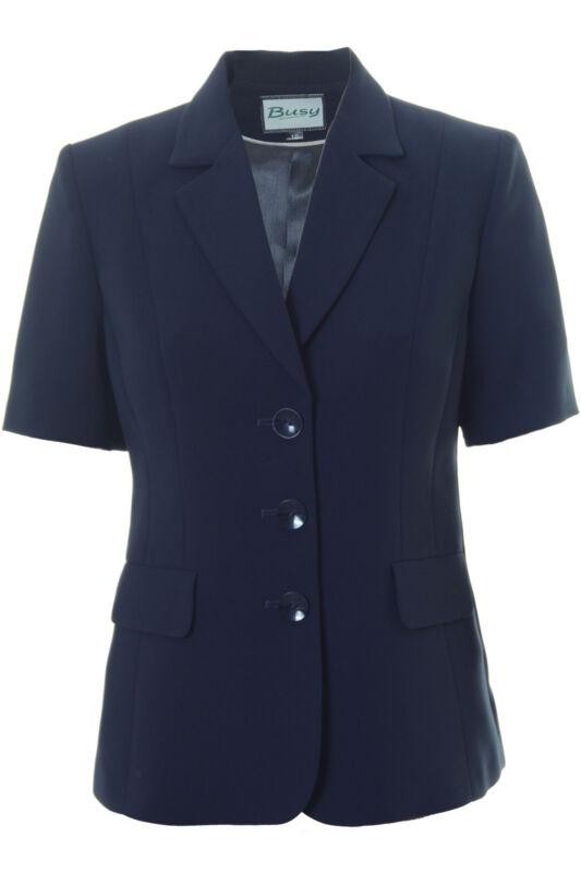 Busy Ladies Navy Short Sleeve Jacket Blazer