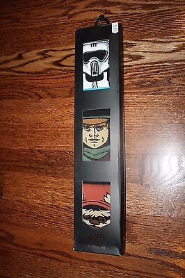 NEW STANCE STAR WARS GIFT RETURN OF THE JEDI ONE 3 PACK SOCKS SIZE LARGE L 60.00