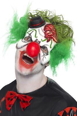 Half Clown Mask (Cut Throat Clown Half Mask with Attached)