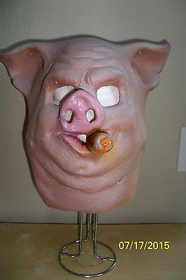 Erwachsene Schwein Schwein Maske mit Zigarre Halloween Lustig Kostüm Neue DU116