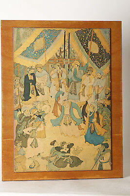 Wood Picture Indian Miniatures - Music Divine Love, Ca 34x44 cm (85442)