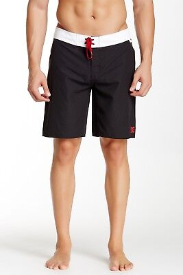 DC Men's Trip Hoppin Boardshort Swimwear Surf Beach Black White Size 38 New