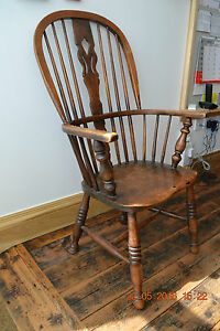 Victorian Windsor high back arm chair