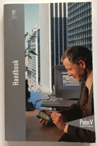 PALM V HANDHELD PDA ORGANIZER HANDBOOK 3COM ORIGINAL OWNER MANUAL