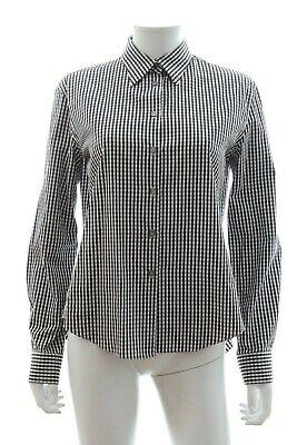 Jourden Open Back Gingham Cotton Shirt / Black, White / RRP: £350.00