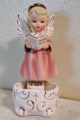 VINTAGE Holy Water Ceramic Font ANGEL GIRL Stand Alone or Wall Hang