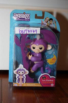Wowwee Fingerlings  New  Mia Purple Interactive Baby Monkey 2017 With Receipt
