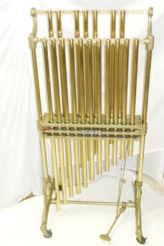 Vintage J.C. Deagan Orchestra Chimes Tubular Bells C-F Brass Tubes No Cracks