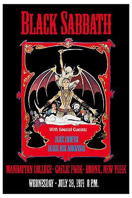 Heavy Metal: Ozzy & Black Sabbath at Bronx New York Concert Poster 1971