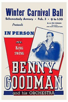 The King of Swing: Benny Goodman & his Orchestra New York Concert Poster 1940