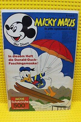 Walt Disney® Micky Maus Nr 6 von 1970 mit Gutschein und Sammelbild,ohne Maske