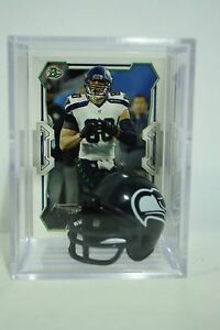 Jimmy Graham Seattle Seahawks Mini Helmet Card Display Case Collectible TE Auto