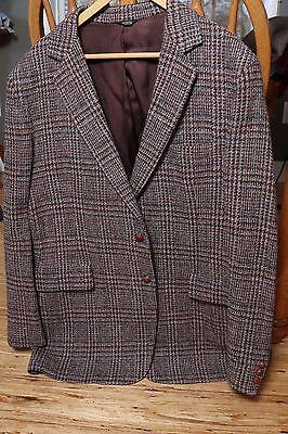 Vintage Men's Welshmoor Tweed Wool USA Brown Brookshire Blazer 46 Regular