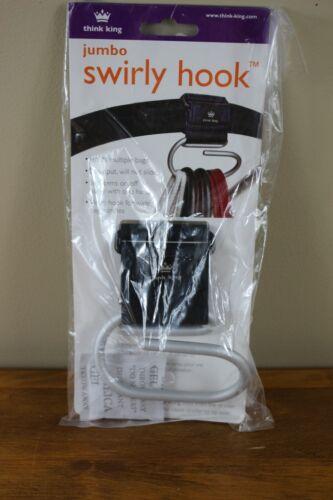 Think King Jumbo Swirly Hook -  Shopping Bag Holder for Stroller - New