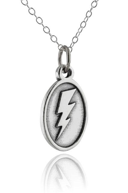 Lightning bolt pendant ebay lightning bolt pendant necklace 925 sterling silver flash charm thunder new mozeypictures Choice Image