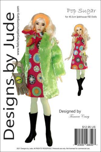 Pop Sugar Doll Clothes Sewing Pattern for 45.5cm Iplehouse FID BJD dolls