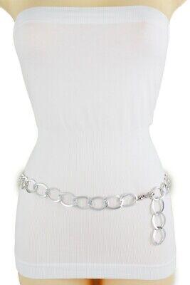 Sexy Women Fashion Belt Silver Metal Chain Link Hip High Waist Plus Size XL XXL Sexy Chain Link