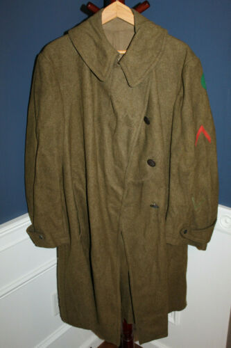 Rare Original WW1 U.S. Army 87th Inf. Division Patched, Named & Unit ID Overcoat