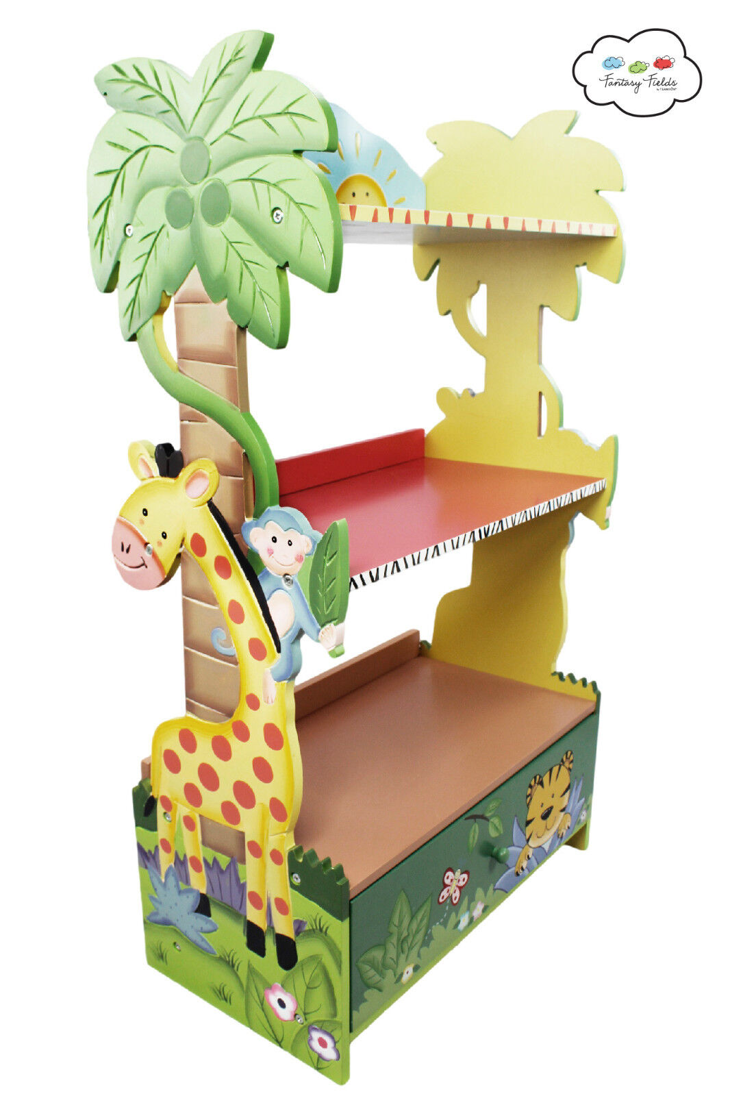 Sunny Safari Childrens Wooden Bookcase Kids Bedroom Furniture Fantasy