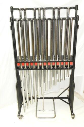Jenco Orchestra Chimes Tubular Bells C-G Chrome Over Brass Tubes No Cracks