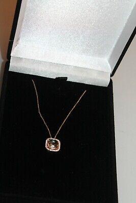 Suzanne Kalan's Necklaces gold 14kt amethyst sapphires border gem women's new